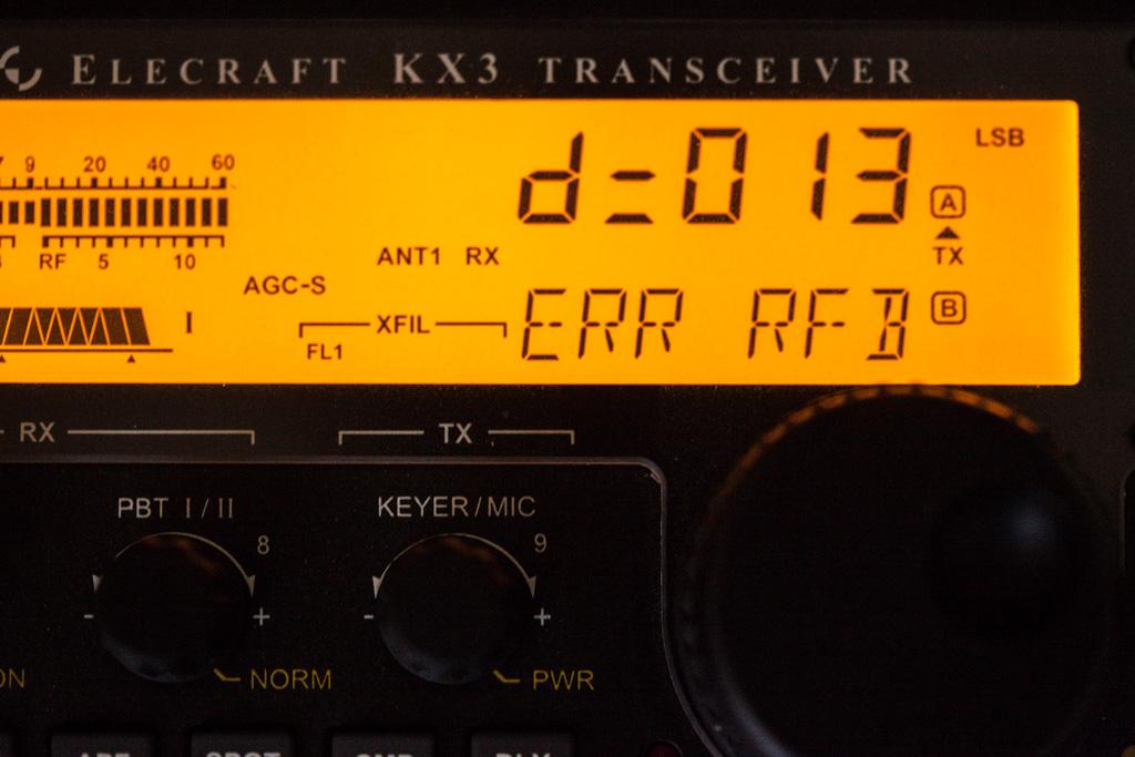 Elecraft KX3 Error