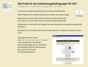 Wie finde ich die Ausbreitungsbedingungen für DX