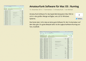 Amateurfunk Software für Mac OS: Rumlog