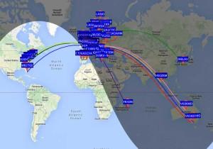 WSPR-Weltkarte
