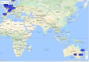Weltkarte WSPR